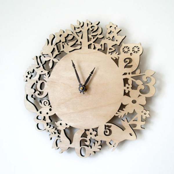 Modern Wall Clock It39s My Forest Maple Wood