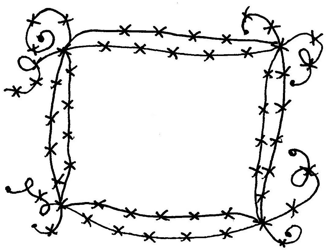 Barbed Wire Frame Mounted Rubber Stamps By Texanadesigns