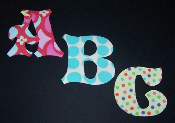 Fabric Applique PATTERNS ONLY Alphabet Letters Full Set