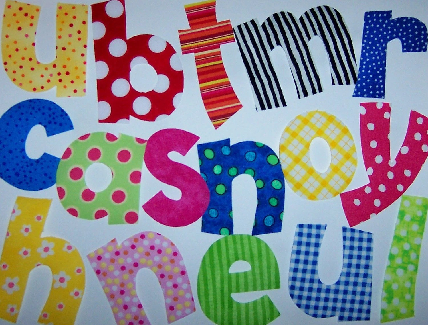 Pdf Applique PATTERNS ONLY Small 2 To 3 Inch PLAYFUL Font