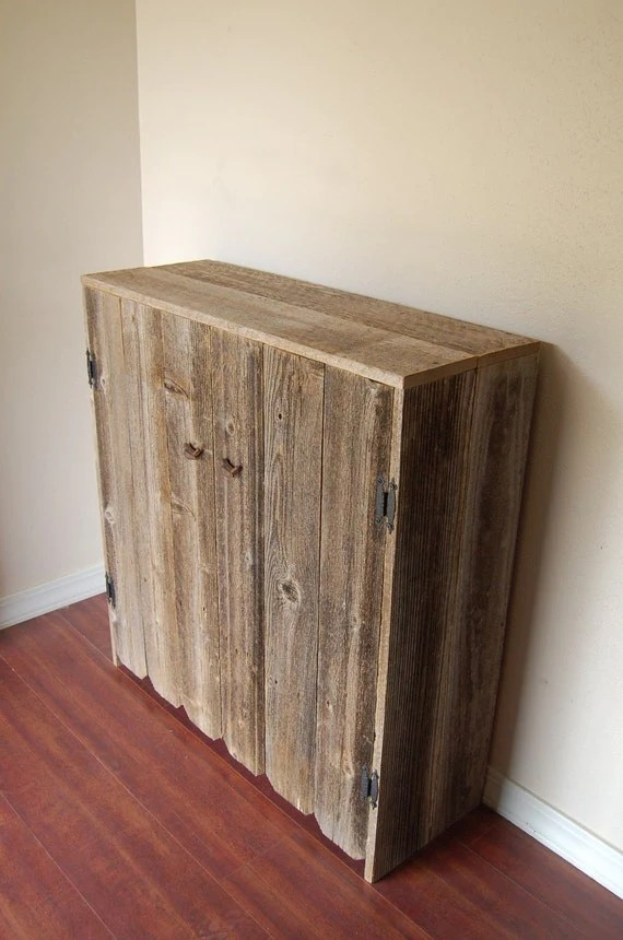 Items similar to Reclaimed Wood Cabinet LARGE Wooden
