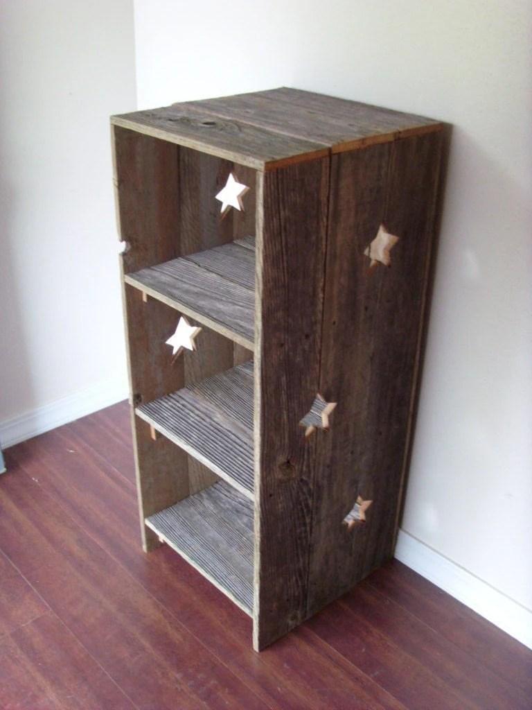 Large Wood Bookcase Star Wood Shelf Country Wood Shelf Large