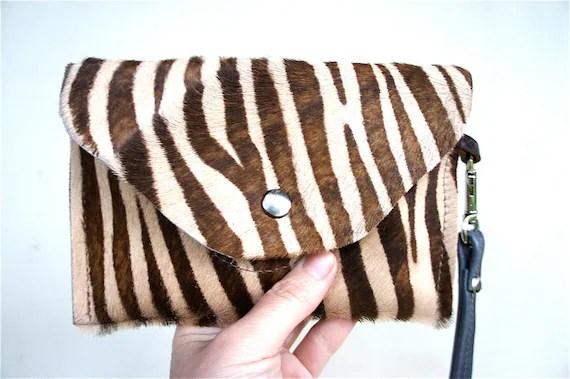 animal print zebra pouch