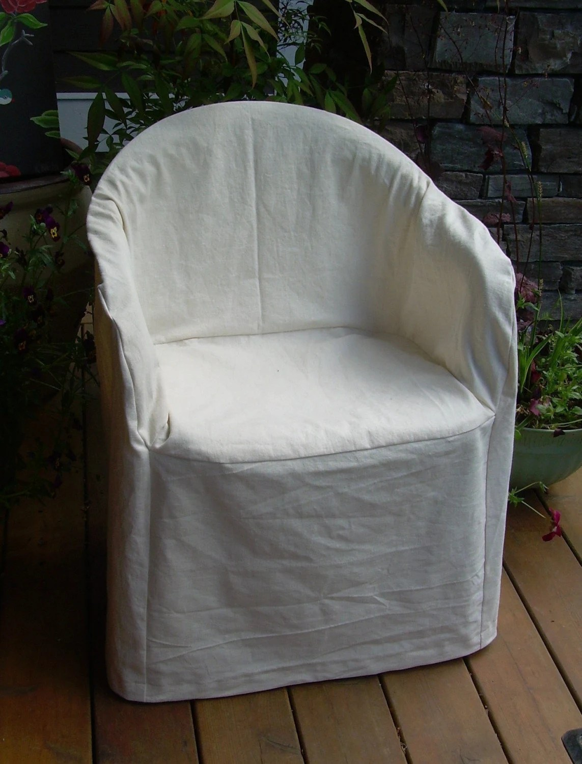Slipcover Pattern Outdoor Resin Chair LowBack by nikkidesigns
