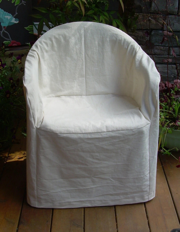 HempCotton Slipcover for Outdoor Plastic Chair