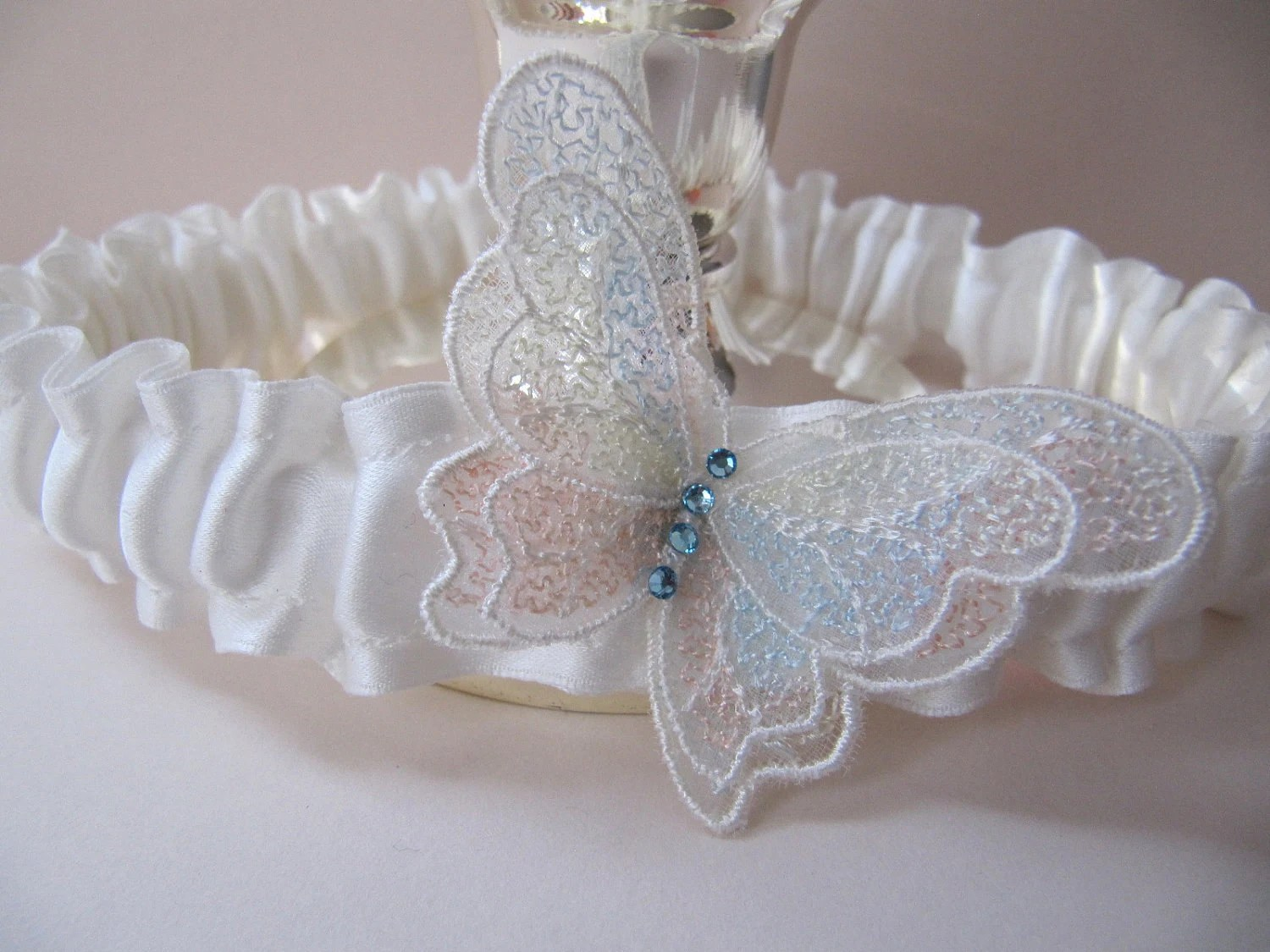 Ivory Wedding Garter Butterfly Garter For Brides Something