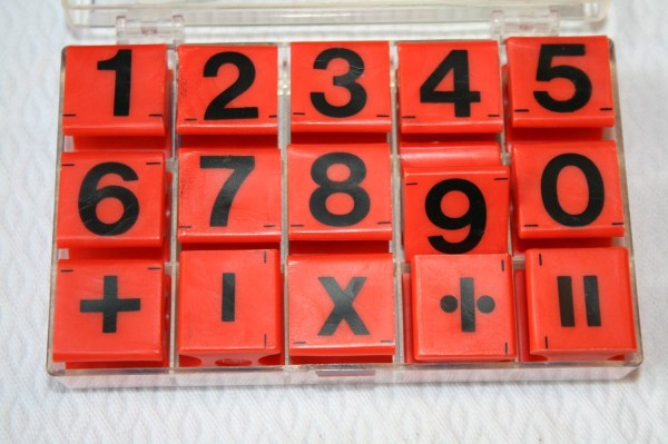 Vintage Stamps Rubber Numbers And Math Symbols