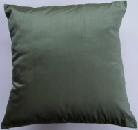 Dark Green Pillow Cover Simply Silk Throw Pillow by ...