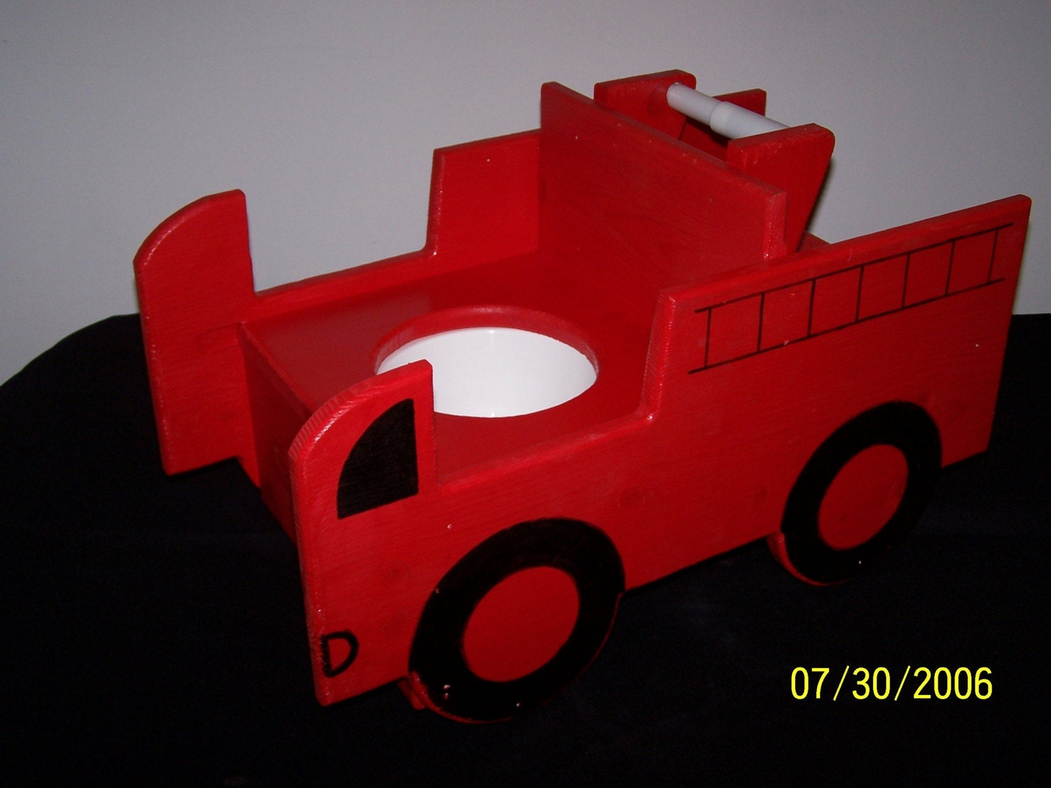 wooden potty training chair covers for white plastic chairs firetruck