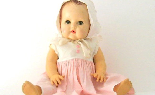 1950s Tiny Tears Doll 19 Inch Molded Hair American By Jujutoo