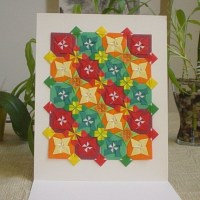 Paper Quilted Origami Mosaic Wall Art Color Windmills