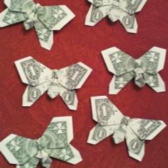 Money Origami Diagram Lg Double Door Refrigerator Wiring Butterfly Instructions Dollar Bill Driverlayer
