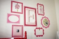 Items similar to Scallop Picture Frames - set of 3 - vinyl ...