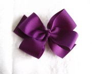 large classic purple hair bow ready