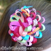 make ribbon flower hair