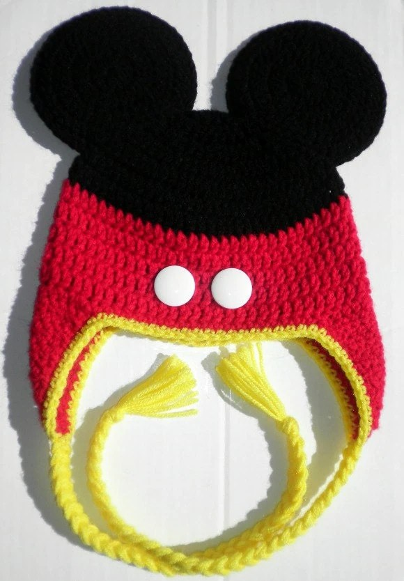 Crochet Mouse Mickey Hat Pattern Toddlers