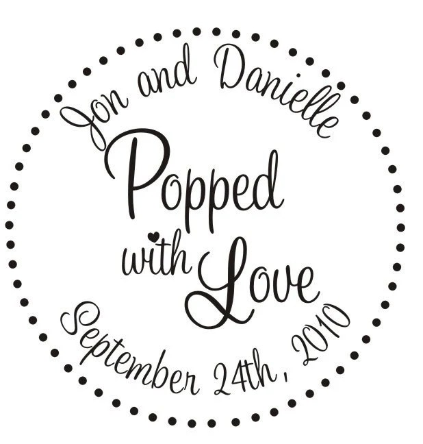Items similar to Popcorn bar Custom Rubber Stamp for