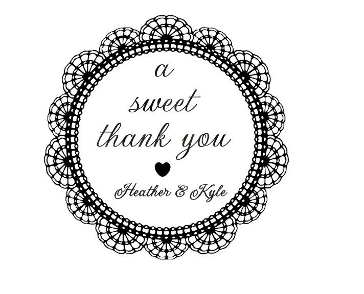 Items similar to A sweet thank you rubber stamp great for
