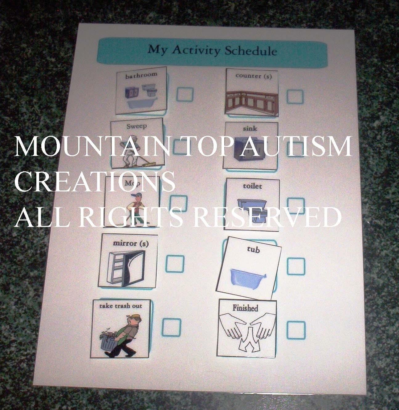 Pianificazione di Pecs autismo bagno pulito