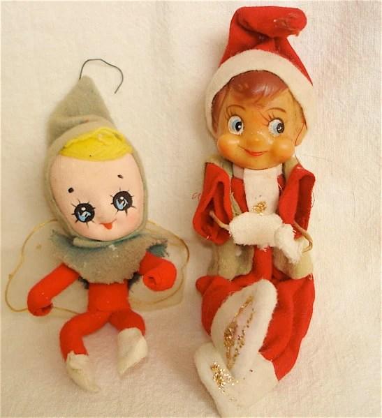 Vintage Bendable Christmas Elves
