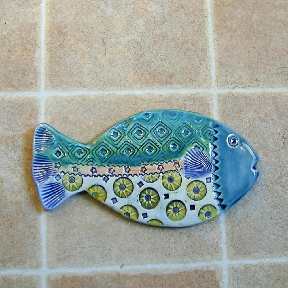 Ceramic Fish wall tile
