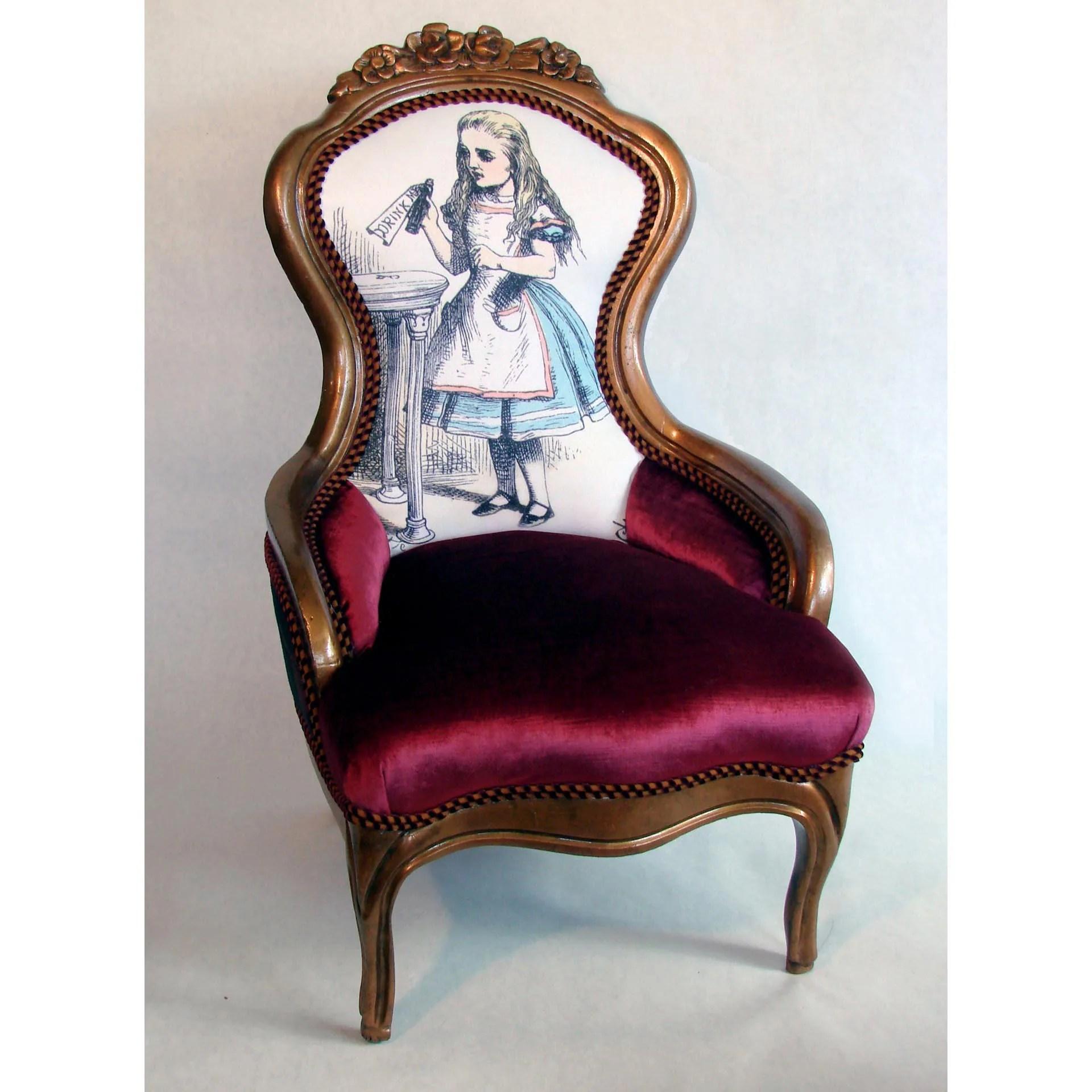 alice in wonderland chair dining room arm victorian