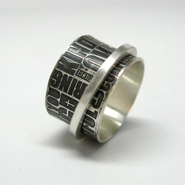 Christian Meditation Spinner Ring Janiceartjewelry