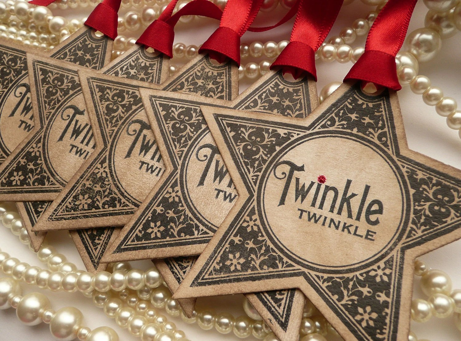 Christmas Tags Christmas Star Tags Party Favor Tags Wedding