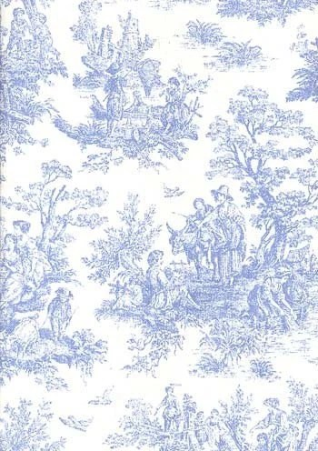 Jamestown Toile Home Decor 54 inch wide Fabric BABY BLUE and