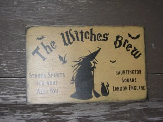 witches wiccan decor halloween sign witch brew etsy pentagram tapestry furniture wicca