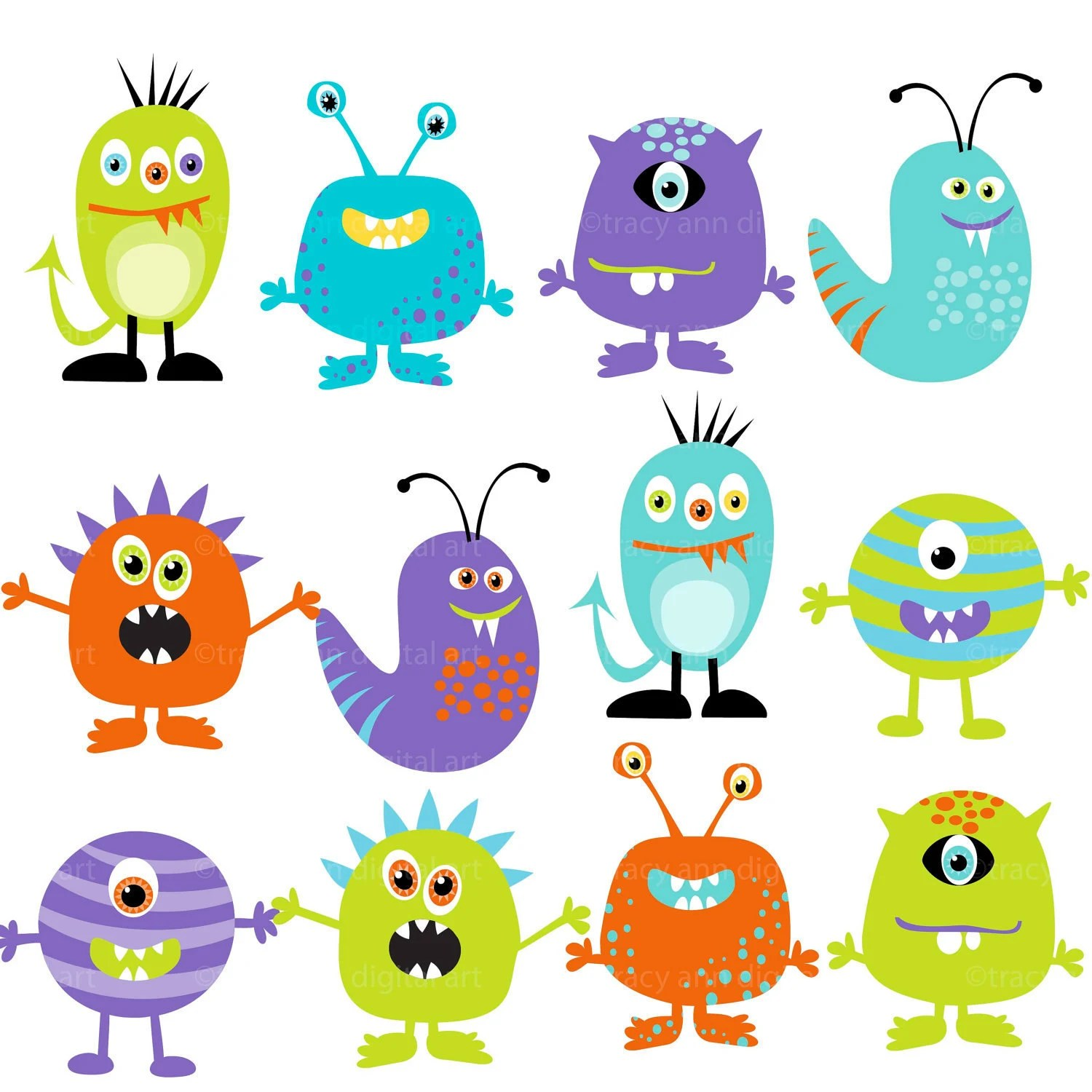 Cute Monster Inc Characters