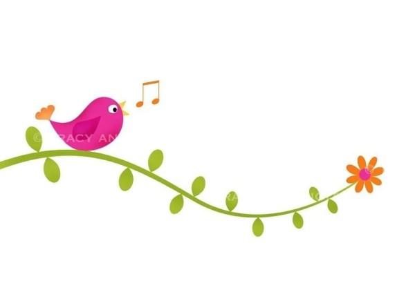 clip art bird vines commercial