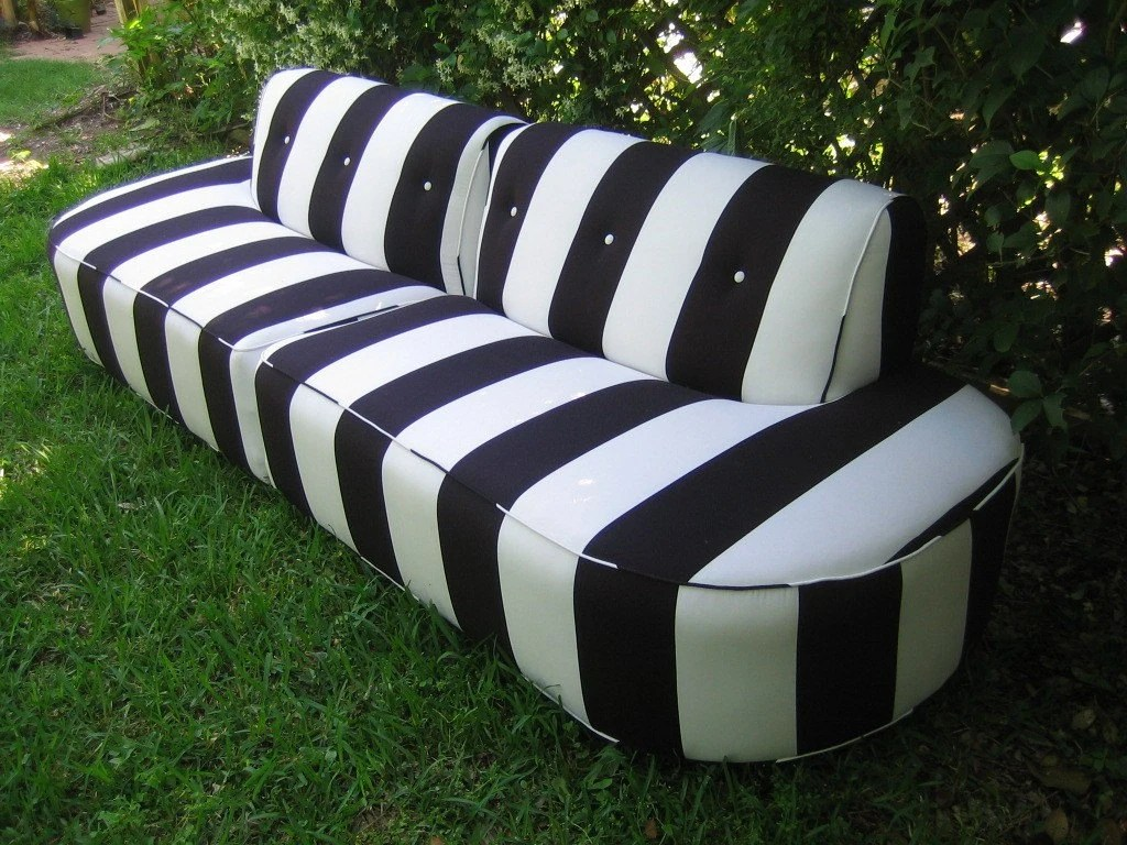 Black And White Striped Chair Vintage Black And White Sofa