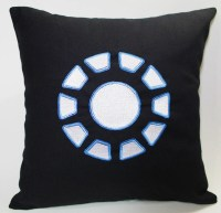 Arc Reactor Avengers Iron man inspired Embroidered Pillow Case