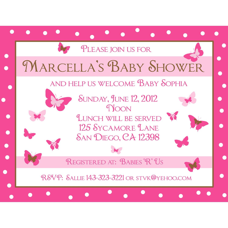 Personalised Baby Invitations