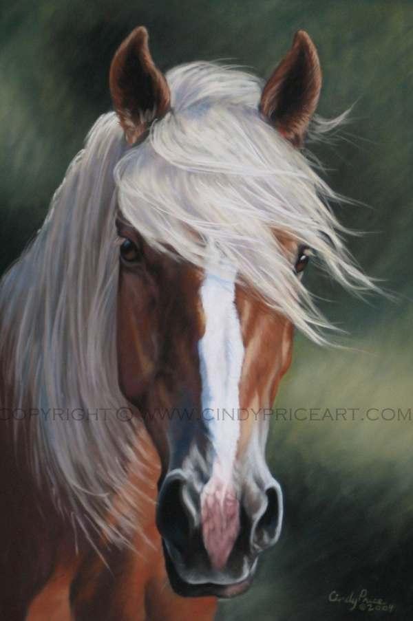Palomino Horse Print Of Pastel Painting. Equine