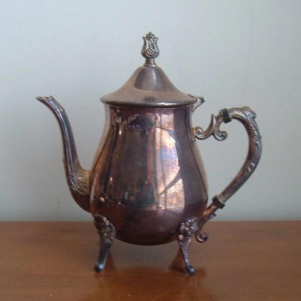 Tarnished Silver Teapot Imsovintage