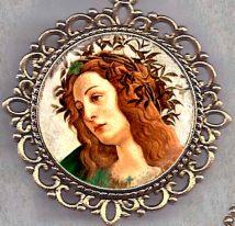 St. Brigid Of Ireland Healer Icon Necklace In