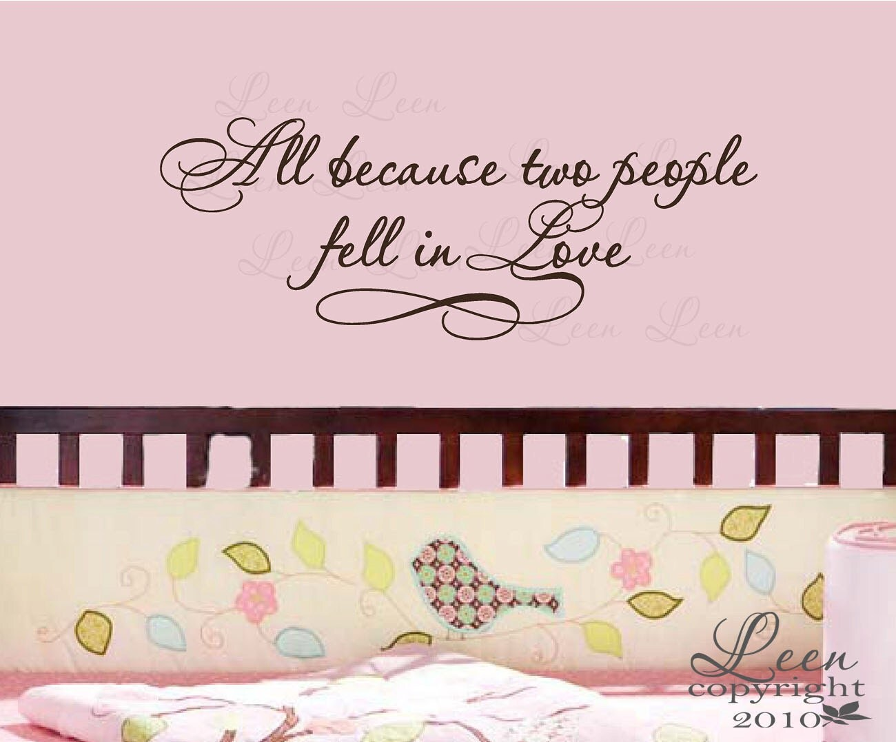 People All Because Fell Two Wall Love Decal