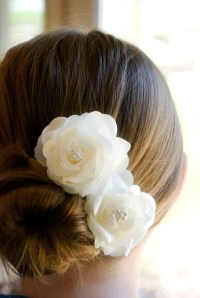 Wedding Flowers: wedding hair flower clips