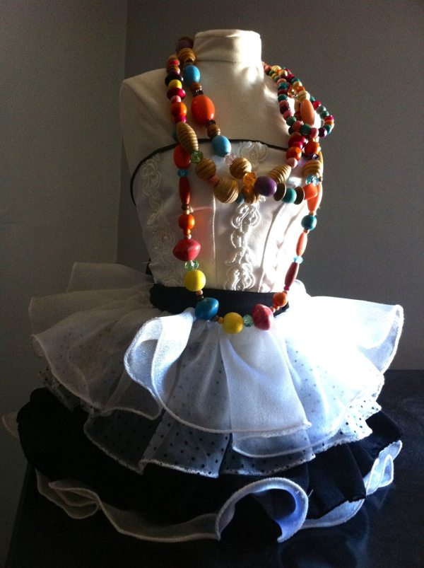 Mannequin Dress Form Jewelry Display Dressed Gown Albalopez