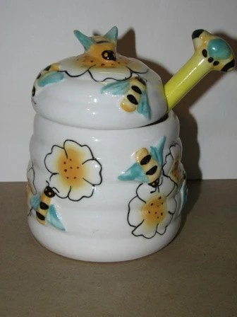 Items Similar To Vintage Style Bumble Bee Honey Jar Bees