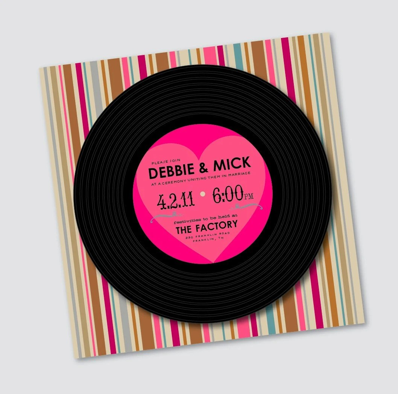 Items Similar To Wedding Invitation Debbie Vinyl Record
