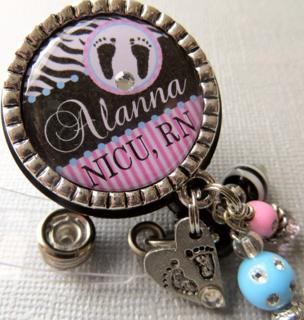 Personalized Id Badge Reel Nicu Nurse Labor And Delivery
