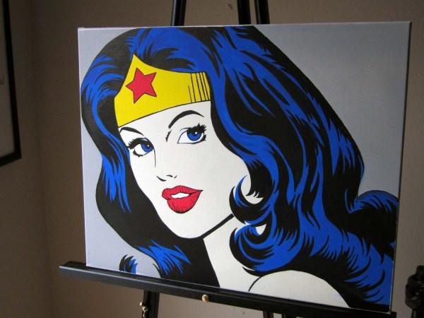 Woman Classic Vintage Comic Pop Art Canvas