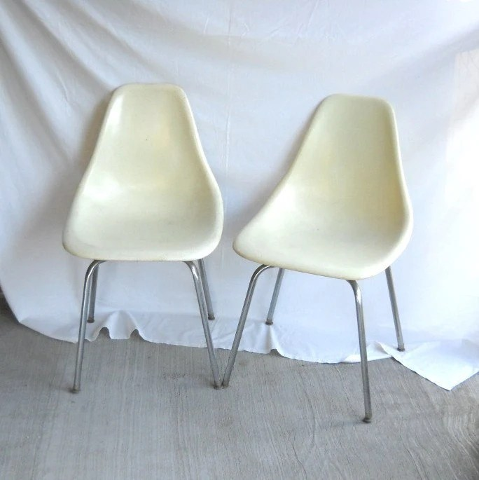 Vintage Fiberglass Chairs Eames Era Shell Chair Plastic Chair