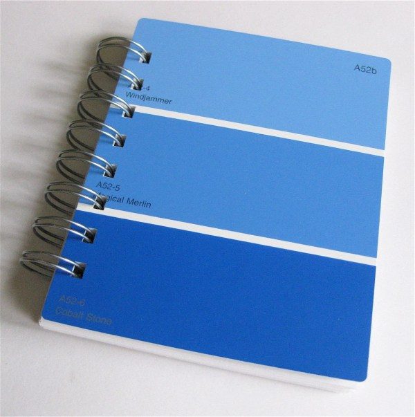 Paint Sample Notebook In Shades Of Blue