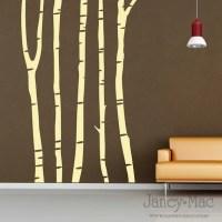 Vinyl Wall Art Birch Tree Trunks OT102