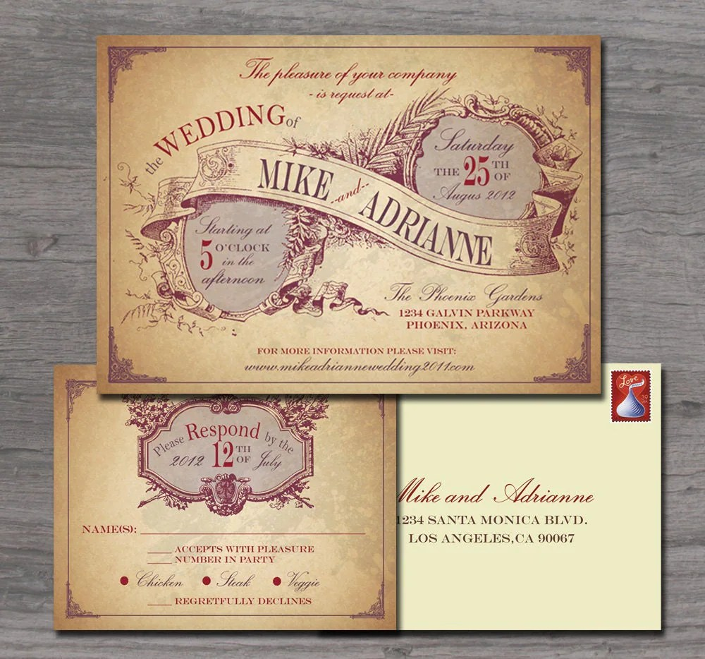 Country Reception Invitations