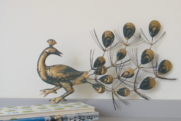Vintage Peacock Metal Wall Hangings Set Of Two Bouquet